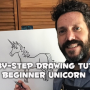 Step-by-Step Drawing Tutorial - Beginner Unicorn